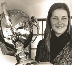 Younger Sally Little posing with a large trophy