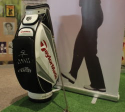A golf bag used by Sally Little made by TaylorMade