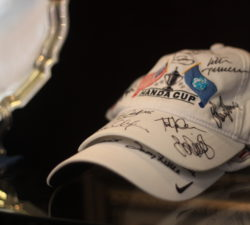 Sally Little's signed Hand Cup hat